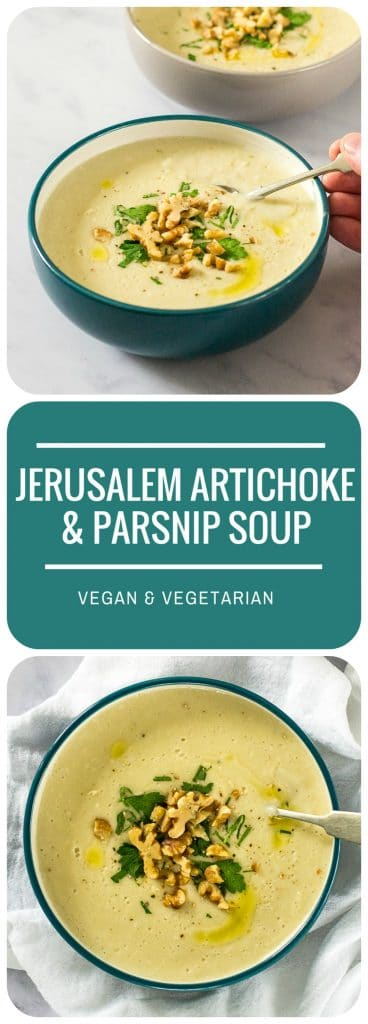 Recipe Roasted Jerusalem Artichoke Parsnip Soup Vegan The Veg