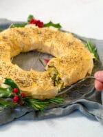Vegan Christmas Recipe: Creamy Leek Strudel Wreath