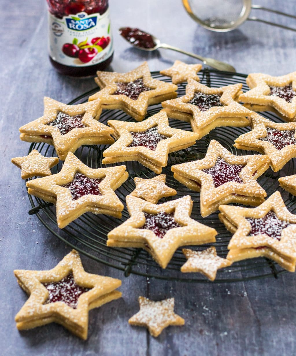 Jammy Star Biscuits #Vegan