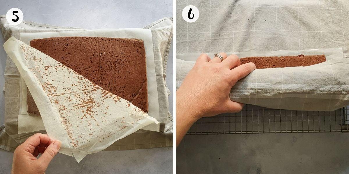 peel off baking parchment