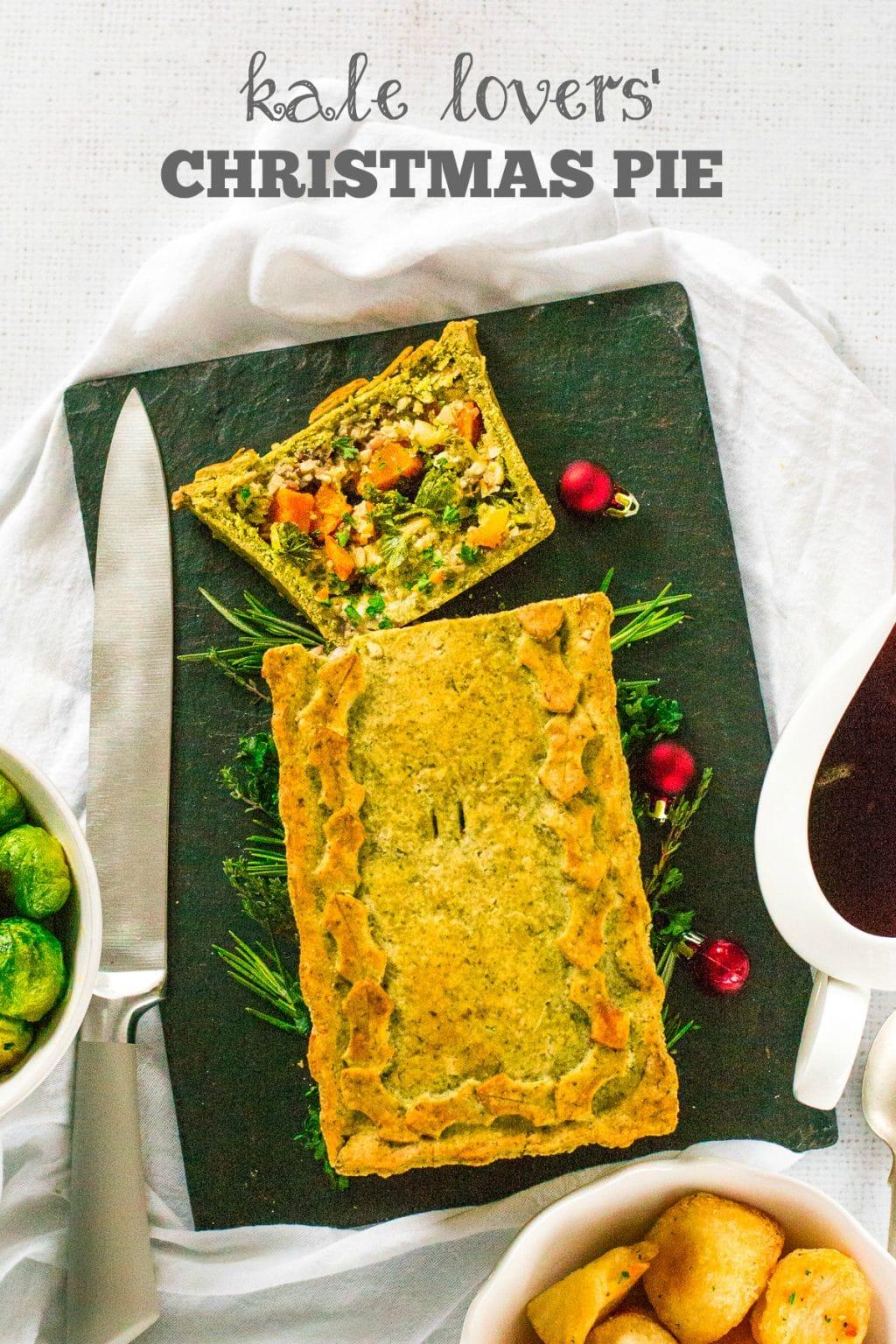 Kale Christmas Pie | #Vegan