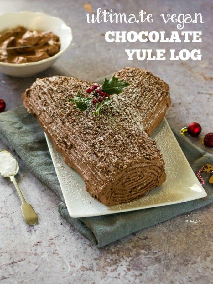 Vegan yule log recipe