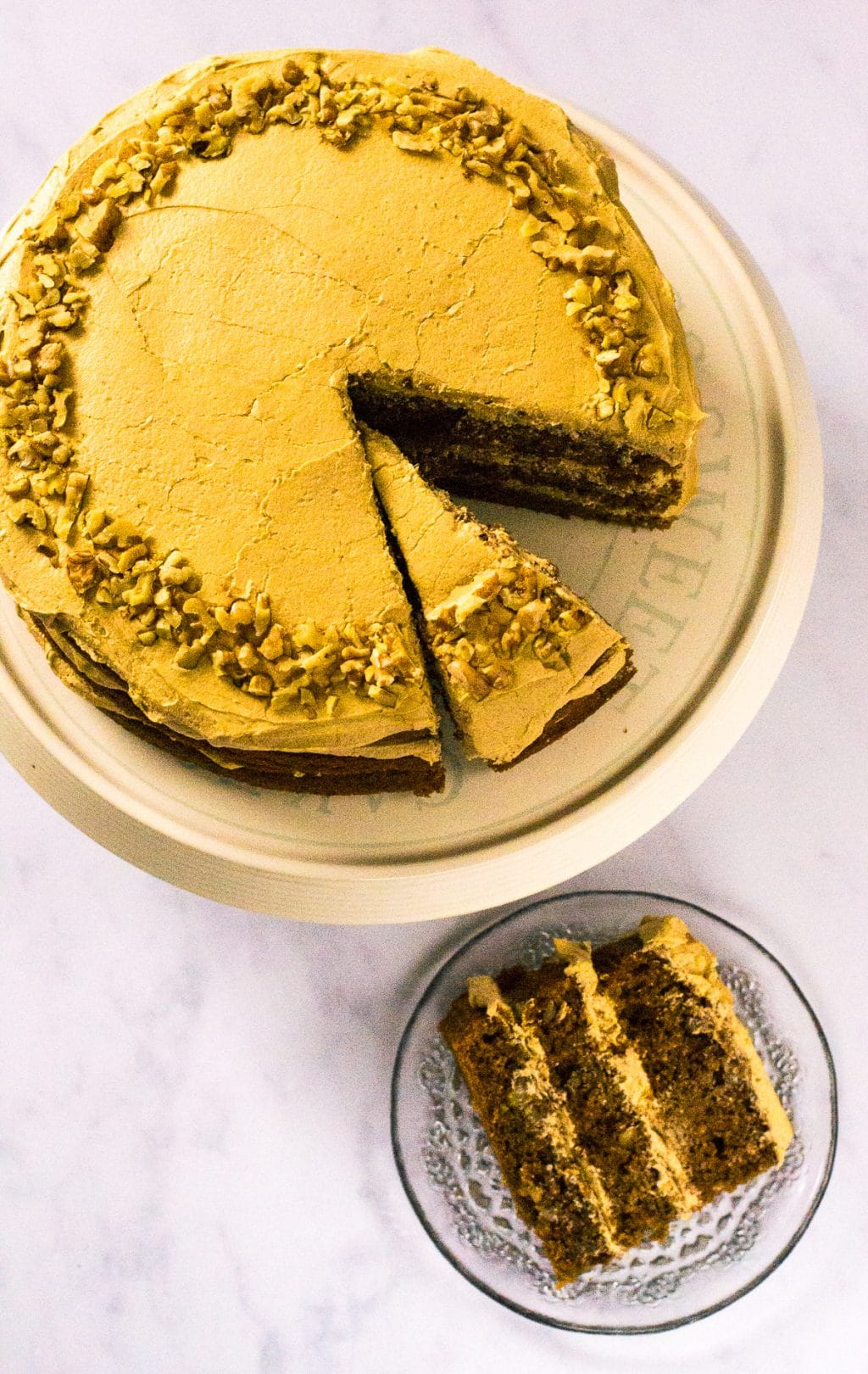 Ultimate Vegan Coffee & Walnut Cake
