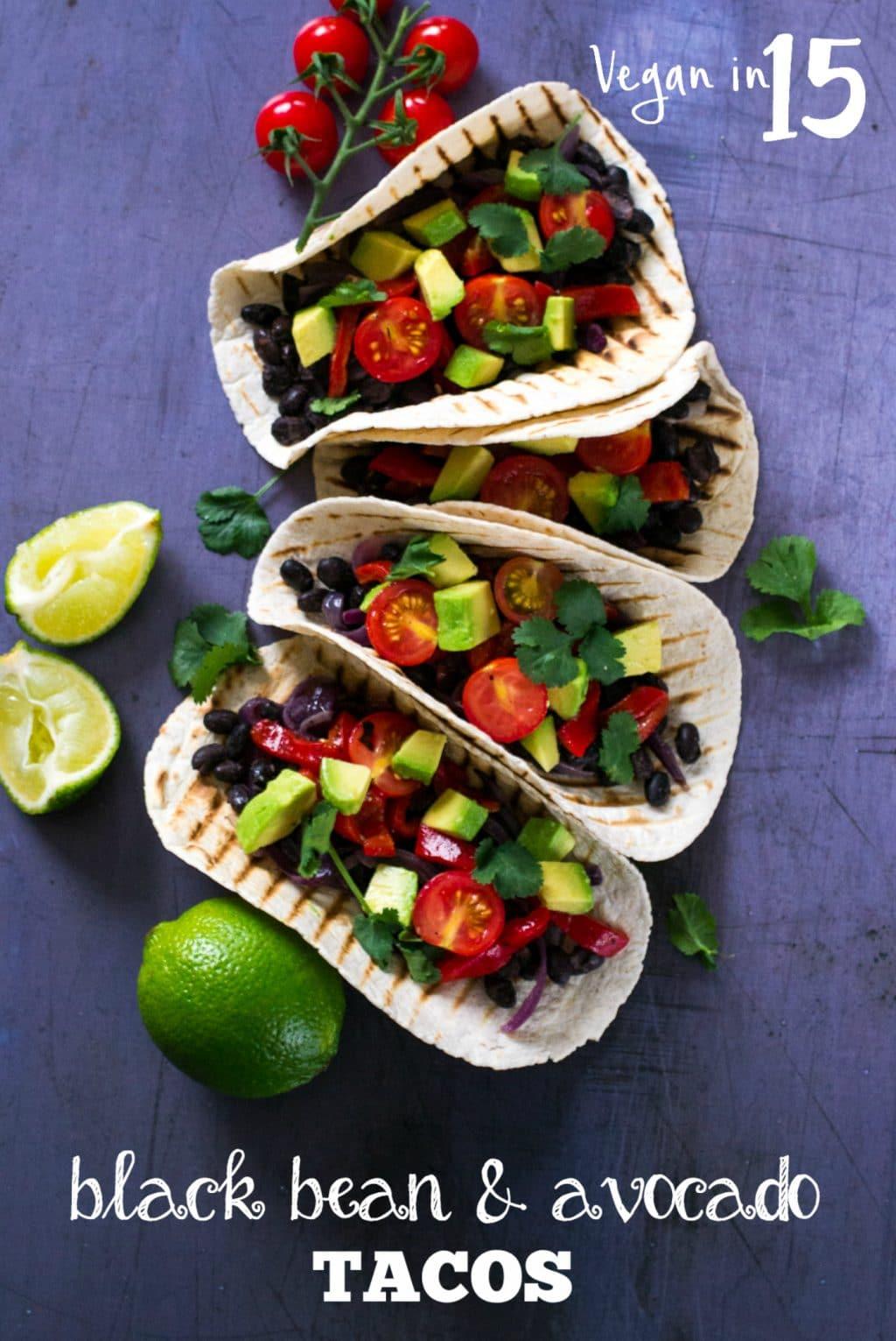 Black Bean & Avocado Tacos