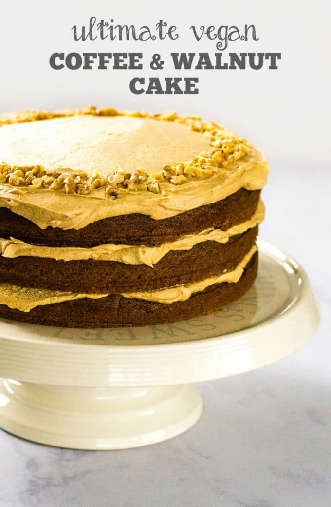 Recipe: The Ultimate Vegan Coffee & Walnut Cake - The Veg Space
