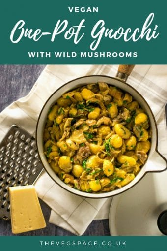 Creamy Wild Mushroom One-Pot Gnocchi from The Veg Space #vegan #plantbased