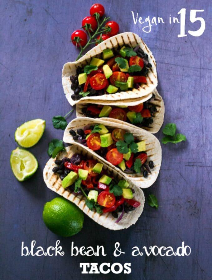 Black Bean Vegan Tacos