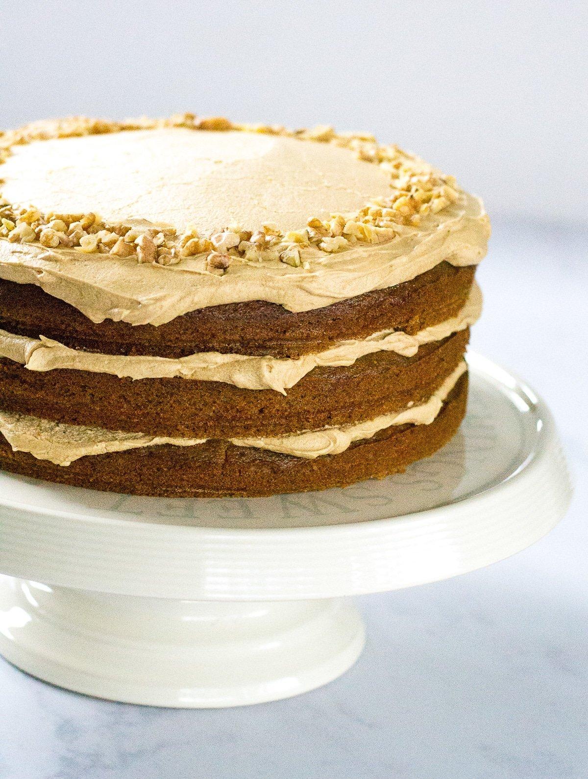 Vegan Coffee & Walnut Cake