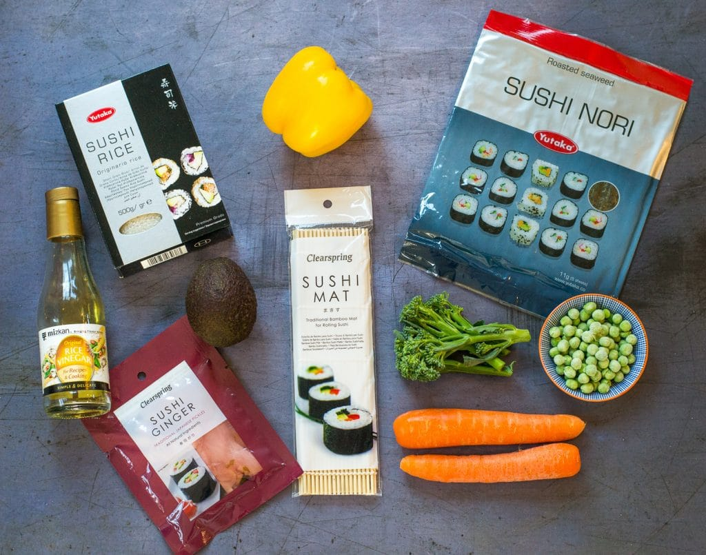 Vegan Sushi Platter Ingredients