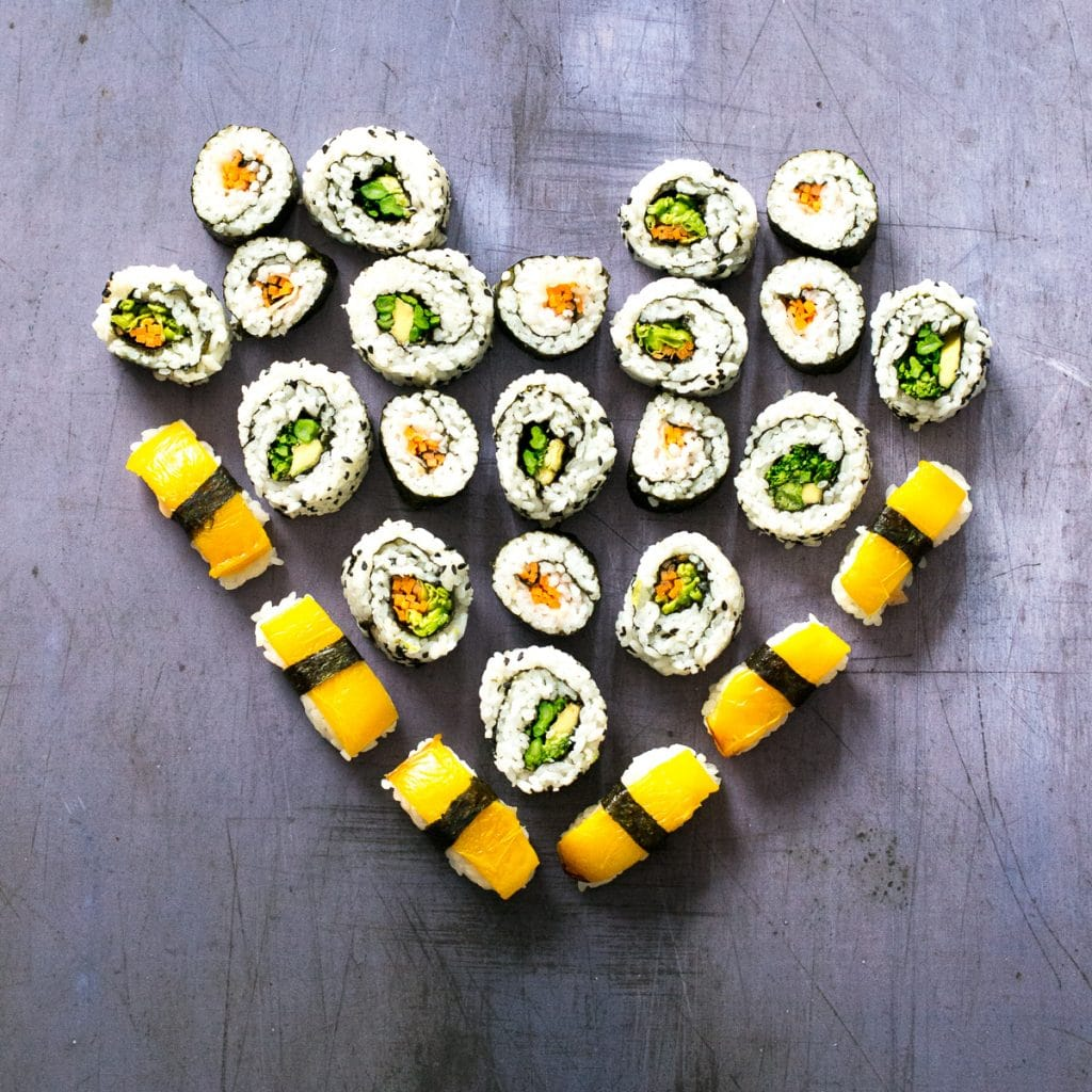 Valentines Vegan Sushi Platter