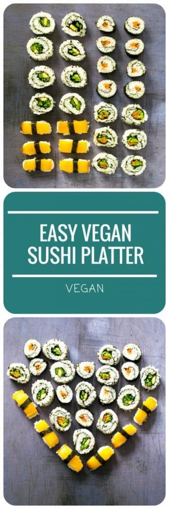 Easy Vegan Sushi Platter