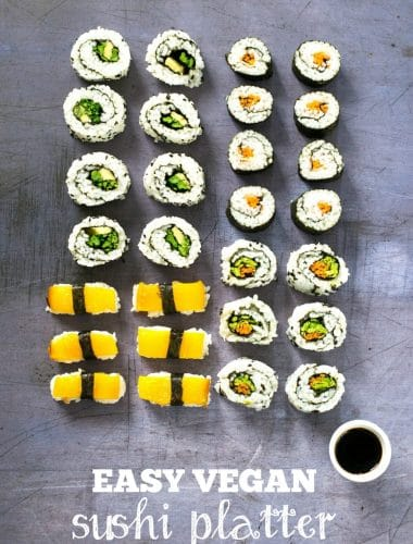 Recipe: Easy Vegan Sushi Platter