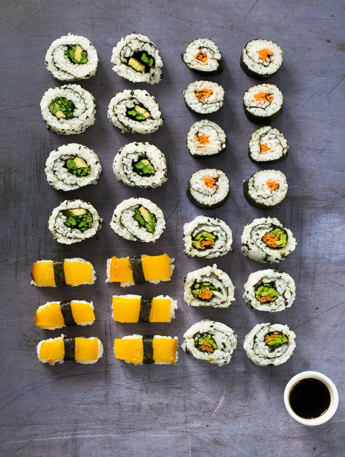 Easy Vegan Sushi The Veg Space Vegan Recipes