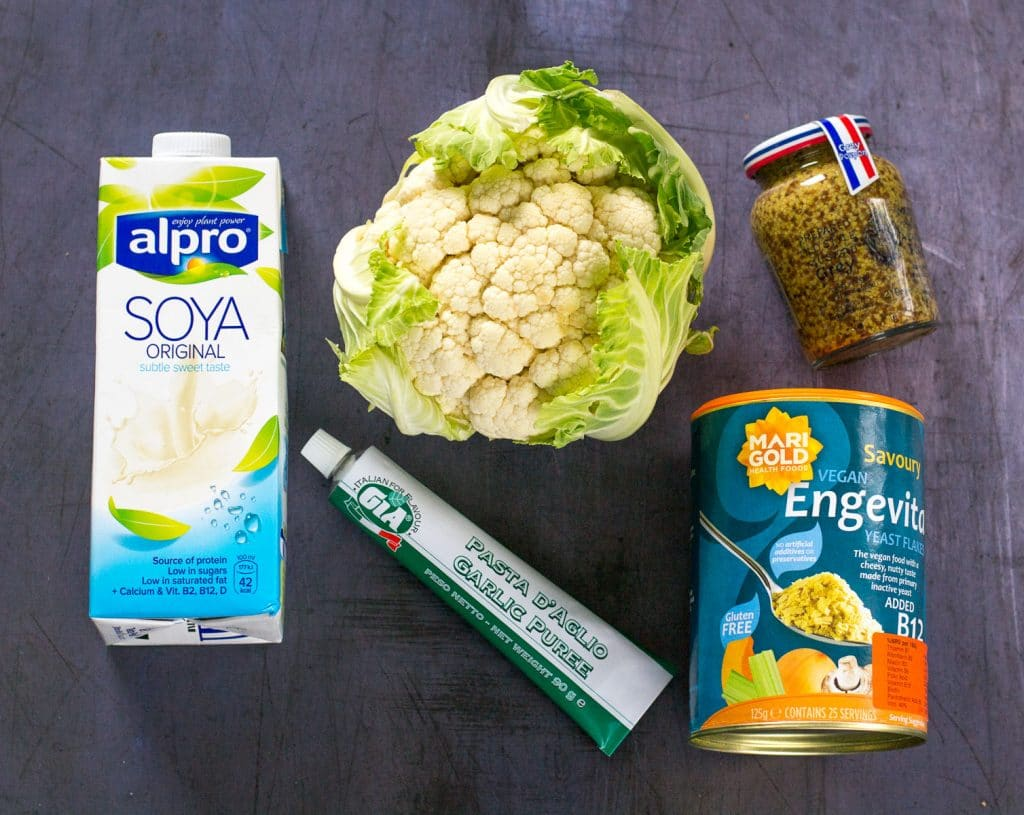 Vegan Cauliflower Mash Ingredients #vegan | thevegspace.co.uk