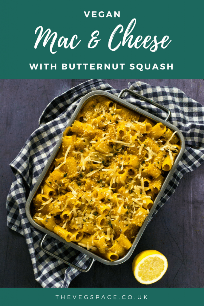 Vegan Butternut Squash Mac and Cheese - a lighter, vegan version of the ultimate comfort food #vegan #plantbased | thevegspace.co.uk