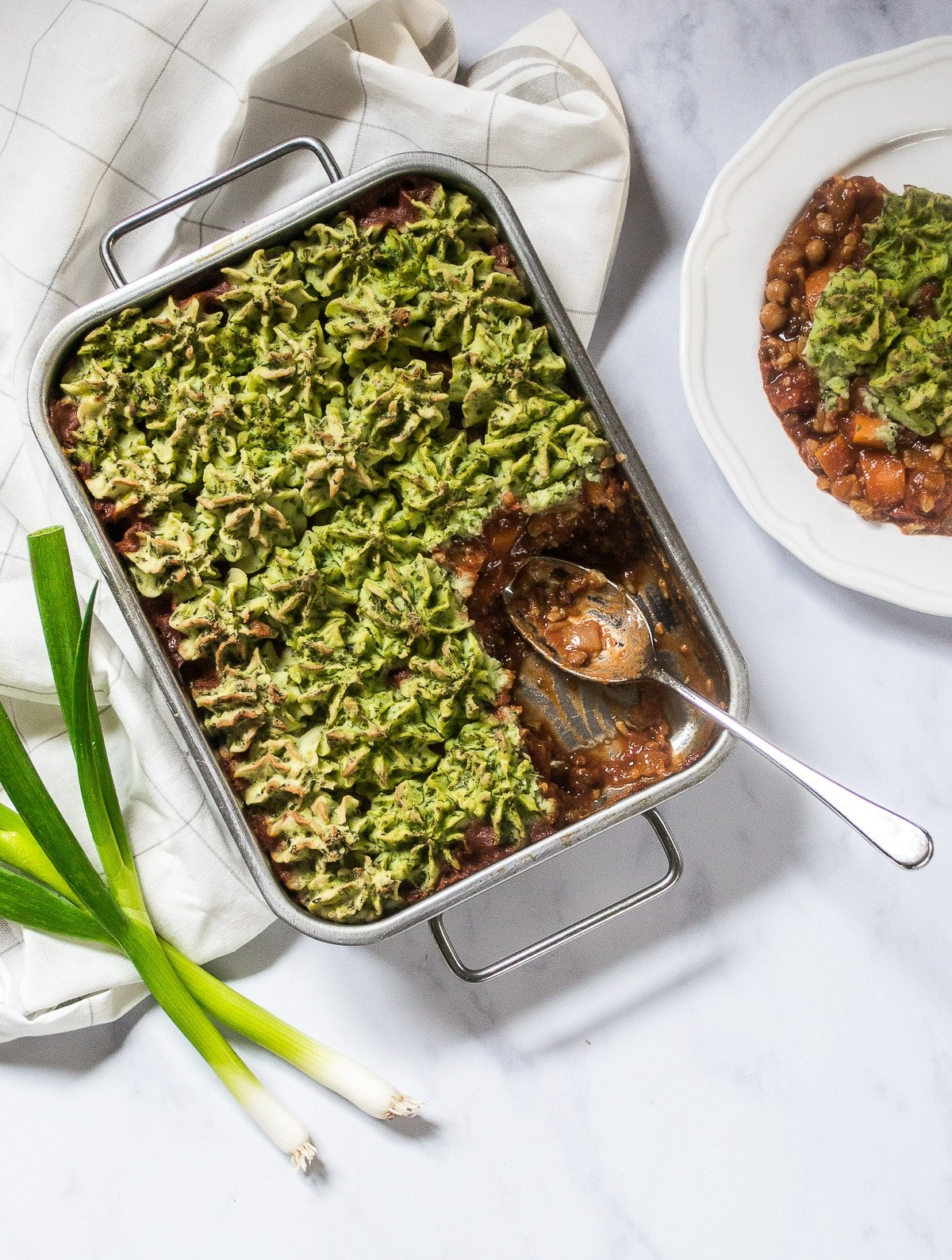 Vegan Cottage Pie with Colcannon Mash from The Veg Space