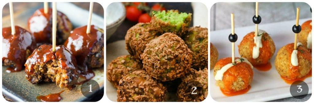 Vegan Canapes & Party Food - Balls & Bites | www.thevegspace.co.uk