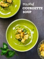 Recipe: Roasted Courgette Soup with peas & basil