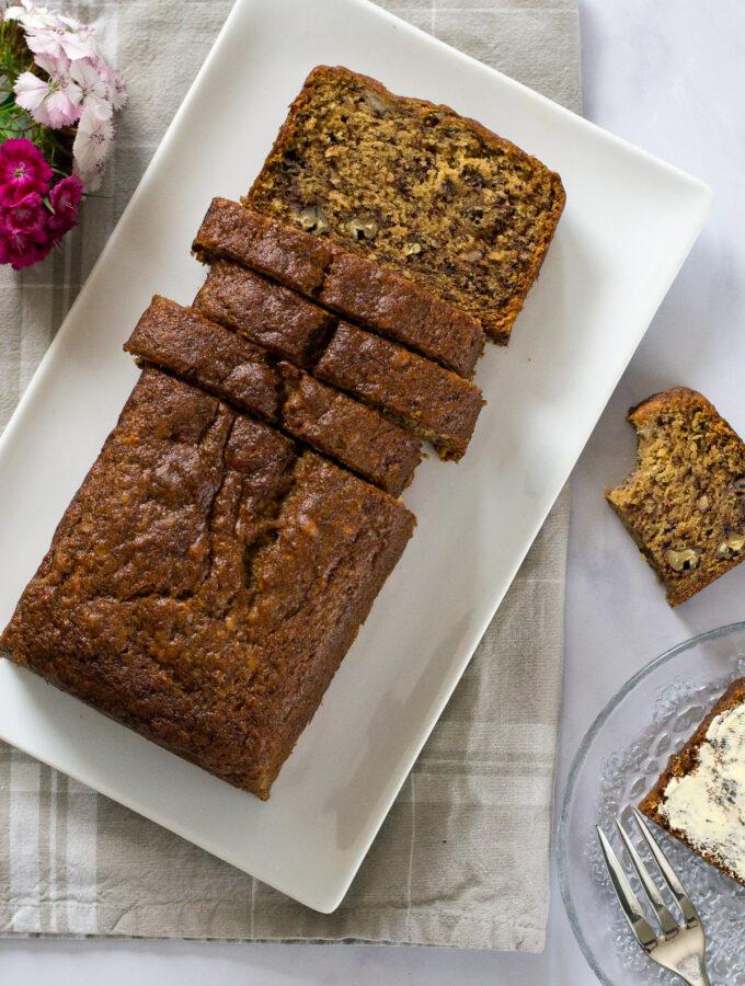 The Best Vegan Banana Cake The Veg Space Easy Vegan Recipes