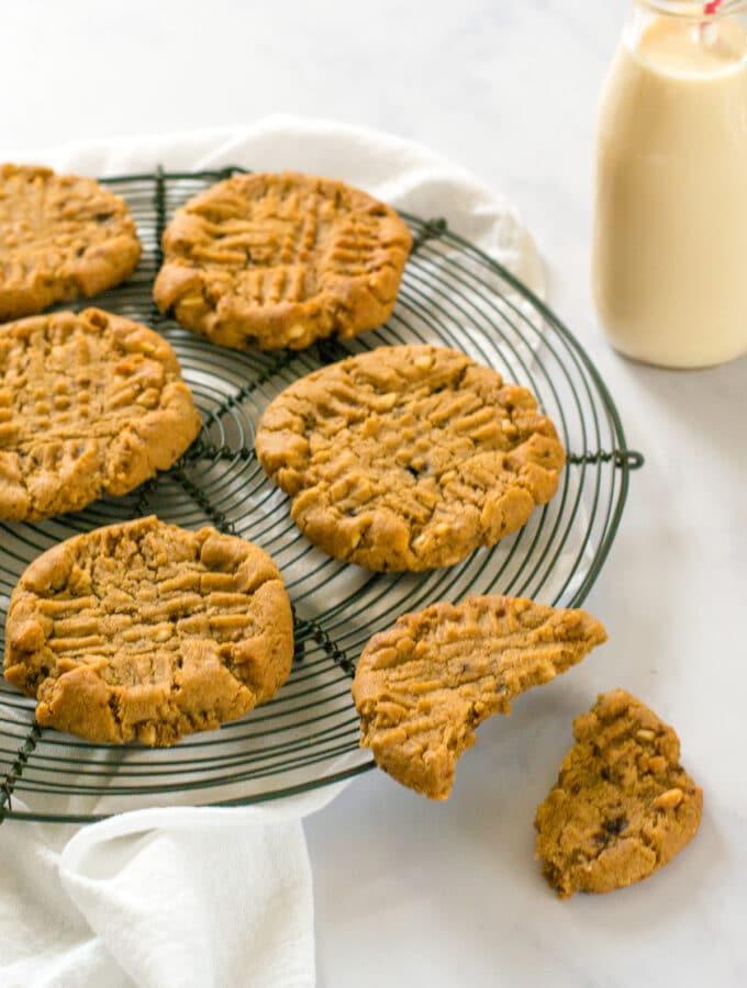 Vegan Cookies on a cooling rack