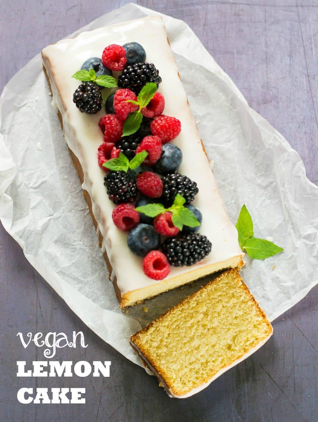 Easy Vegan Lemon Cake