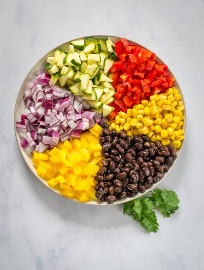 Ingredients for Vegan Enchiladas