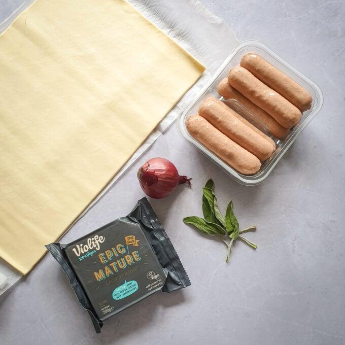 vegan sausage roll ingredients