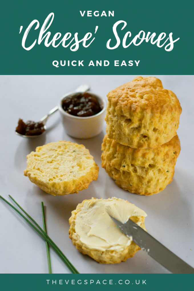 These easy vegan cheese scones are so light and 'buttery' no one will believe they are #vegan ! #plantbased #veganfood #vegetarian