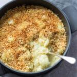 Cauliflower Cheese with vegan cheese sauce