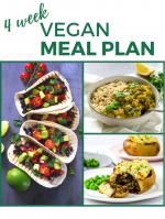 Four Week Vegan Meal Plan and Shopping List