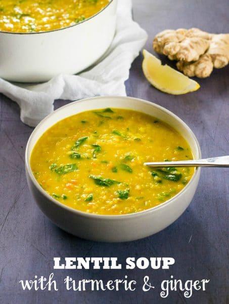 Recipe: Vegan Lentil Soup with Turmeric & Ginger