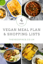 Four Week Vegan Meal Plan and Shopping List