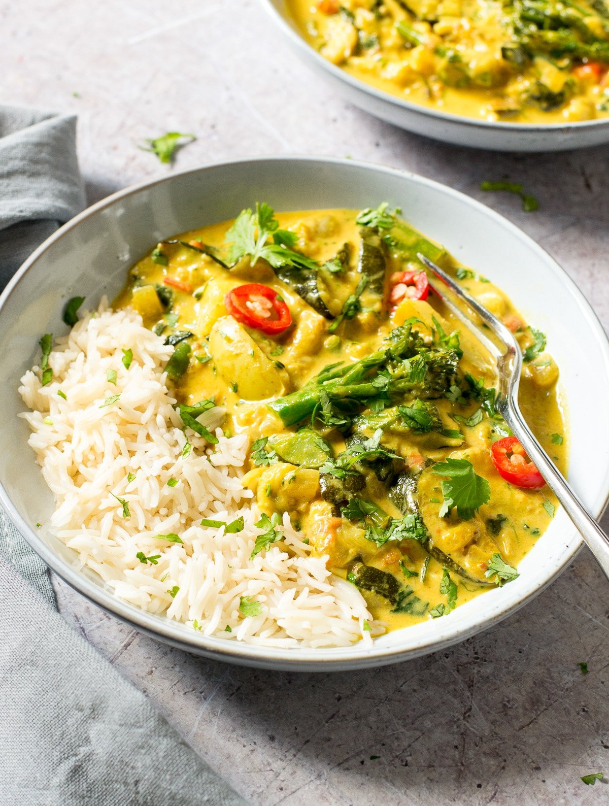 Vegan Courgette Curry