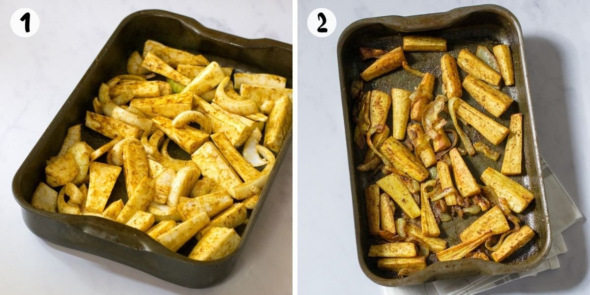 Roast parsnips in the oven