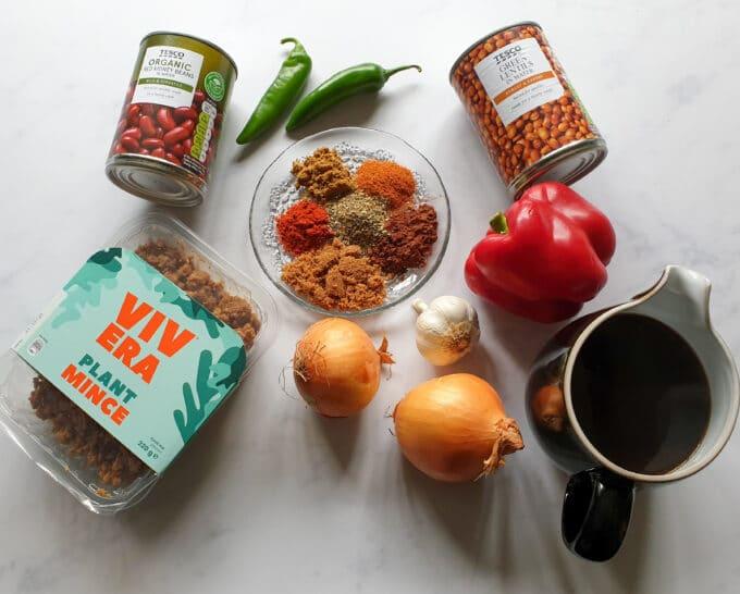 Vegan Chili Ingredients