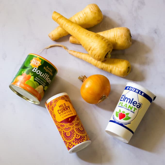 Parsnip Soup Ingredients