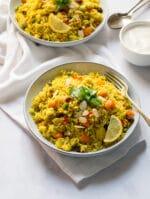 Recipe: Vegan Biryani with lemon and almonds
