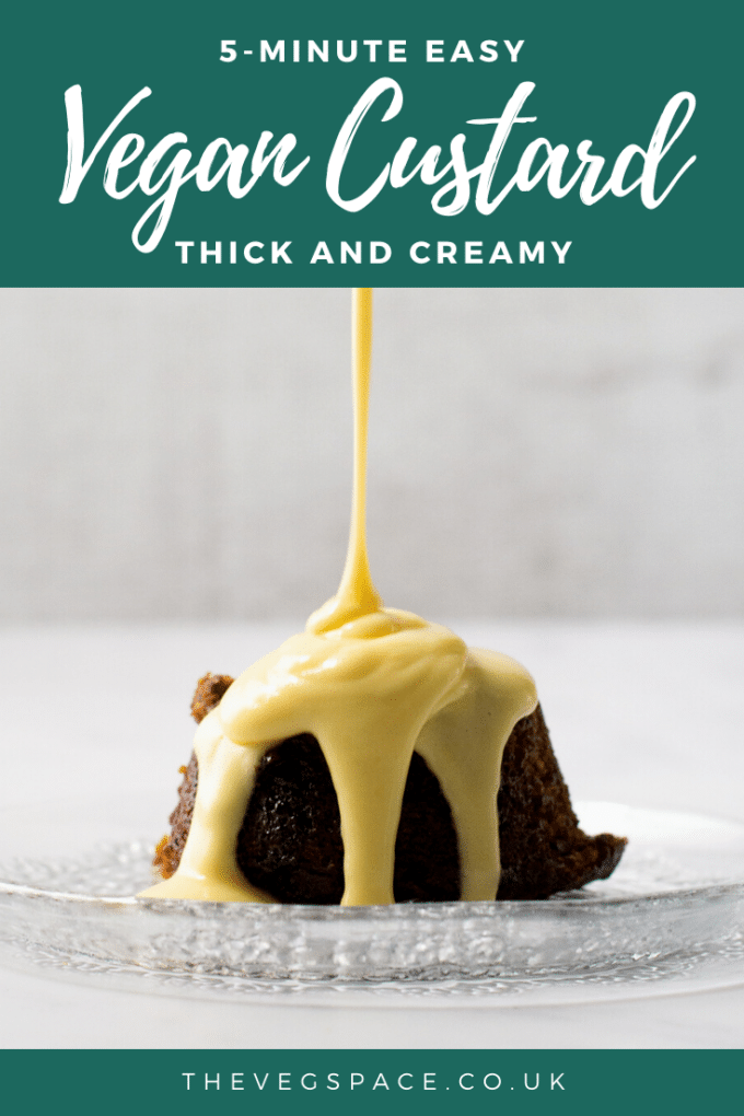 Thick and creamy Vegan Custard - make from scratch in 5 minutes!