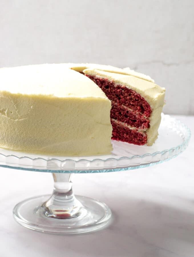 Egg Free Red Velvet Cake