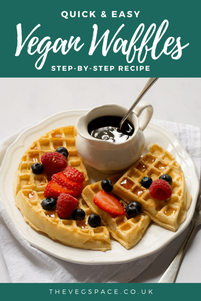 Easy Vegan Waffle Recipe - simple one-bowl recipe for fluffy and crispy vegan waffles