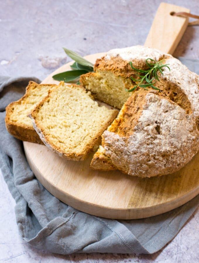 Slices of Vegan Soda Bread