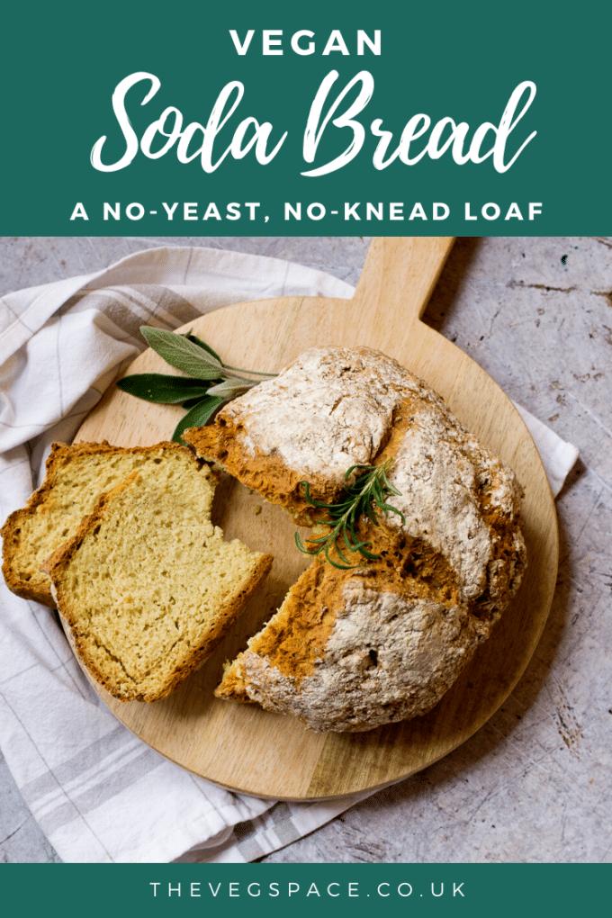 Vegan Soda Bread - an easy no-knead, no-yeast bread, dairy-free and delicious!