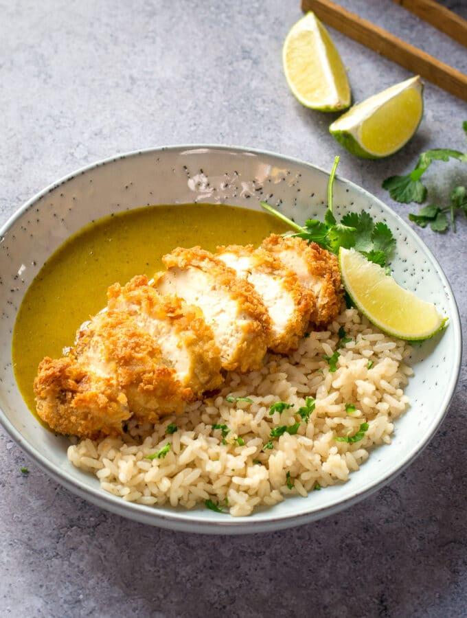 Vegan Katsu Recipe with sauce