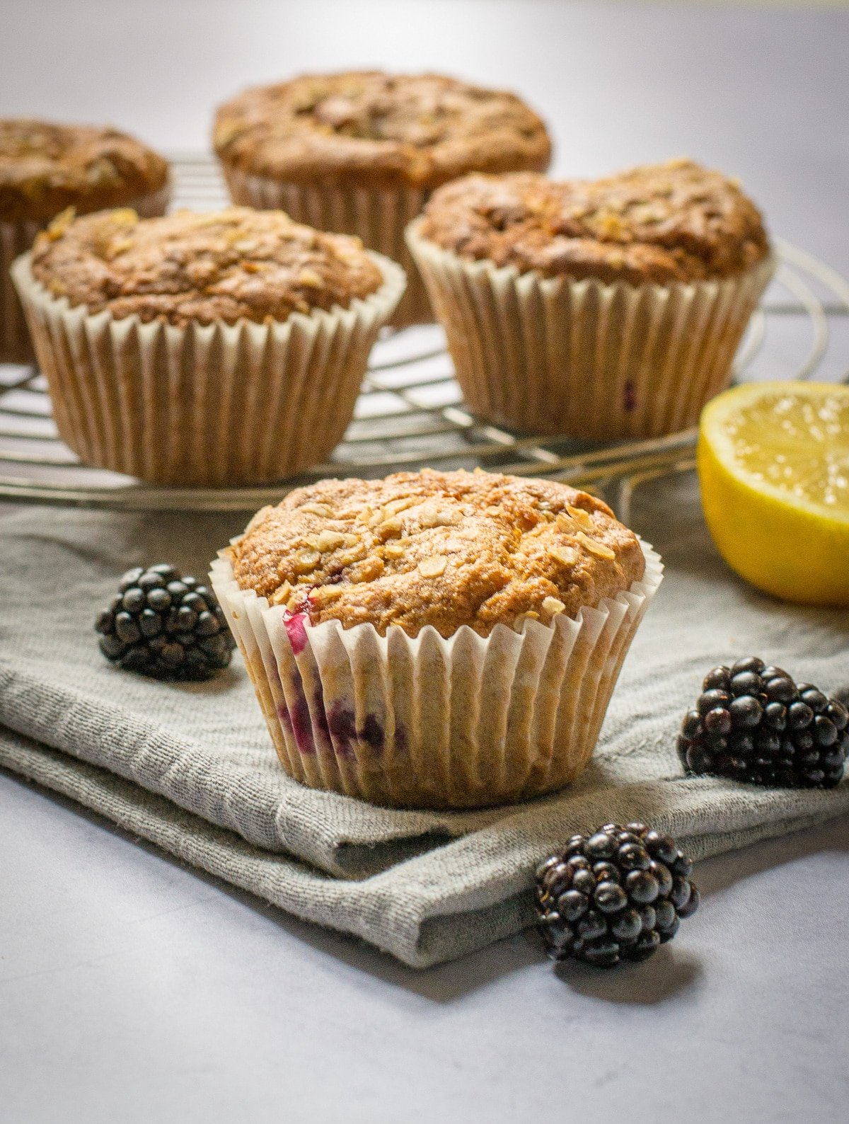 Vegan Blackberry Muffins