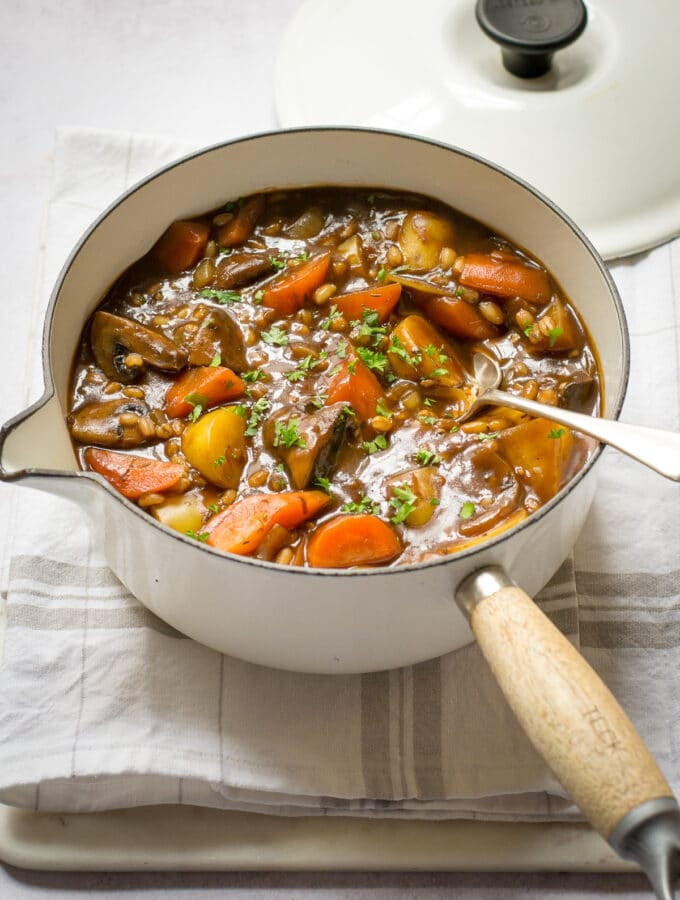 Vegan Stew with pearl barley