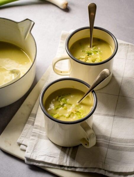 Vegan Leek & Potato Soup
