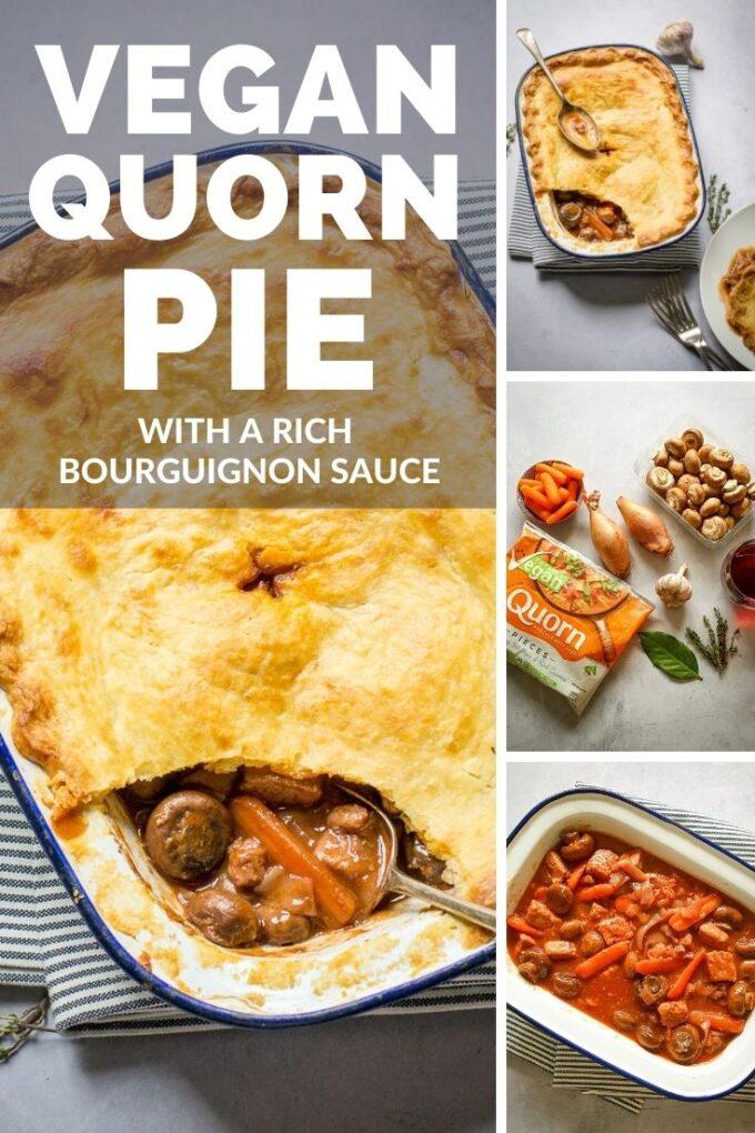 Pinterest Pin for Quorn pie