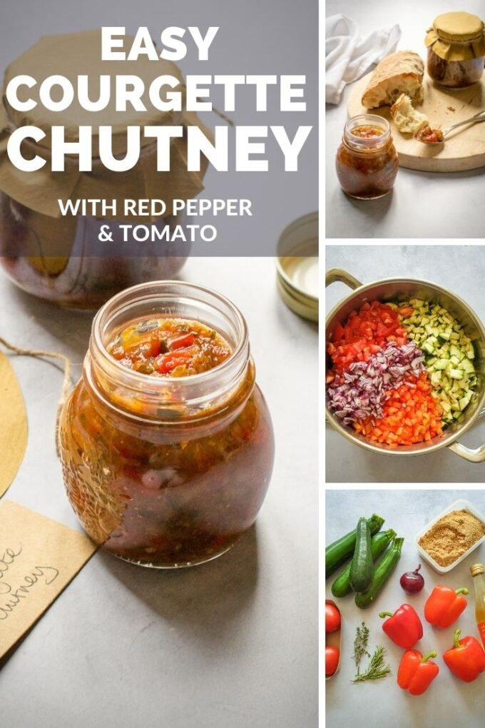 Pinterest Pin for courgette chutney