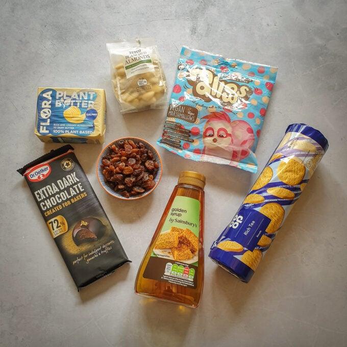 Rocky Road Ingredients