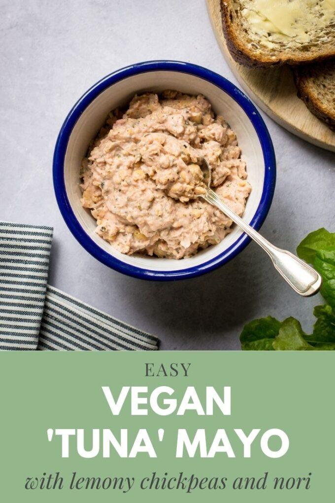 Pinterest pin for vegan tuna mayo